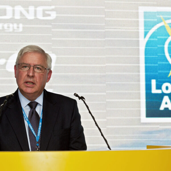 Brent Cheshire, UK Country Chairman, DONG Energy speaking at the inauguration of London Array
