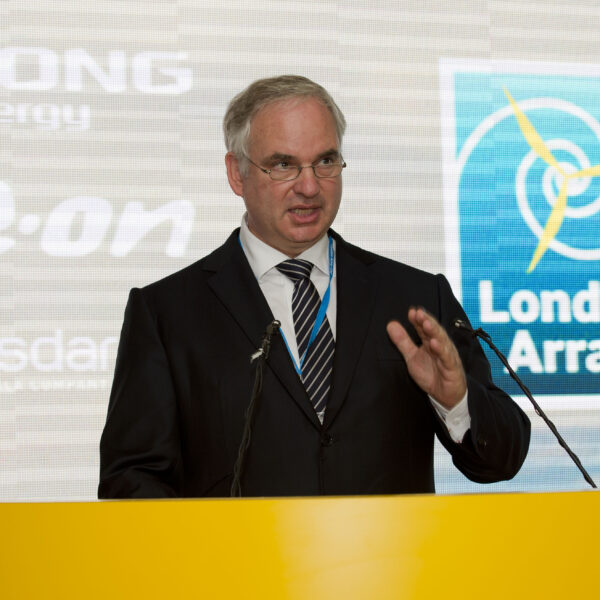 Dr Johannes Teyssen, Chairman and Chief Executive, E.ON speaking at the London Array Inauguration