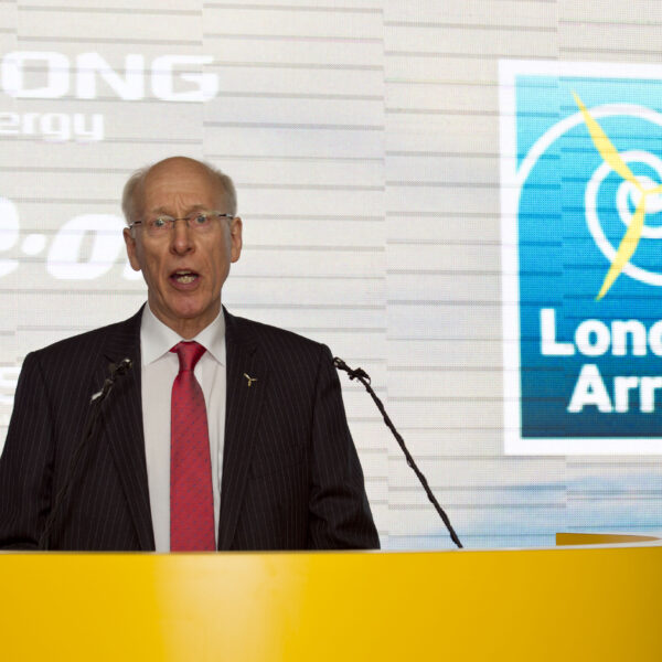 Project Director, Richard Rigg, speaking at the inauguration of London Array